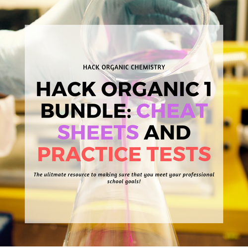 Hack Organic 1 Bundle: Cheat Sheets and Practice Tests