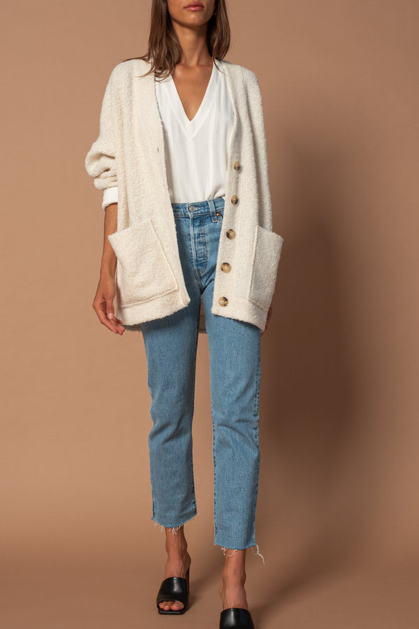 Cardigan White - 303 AVENUE