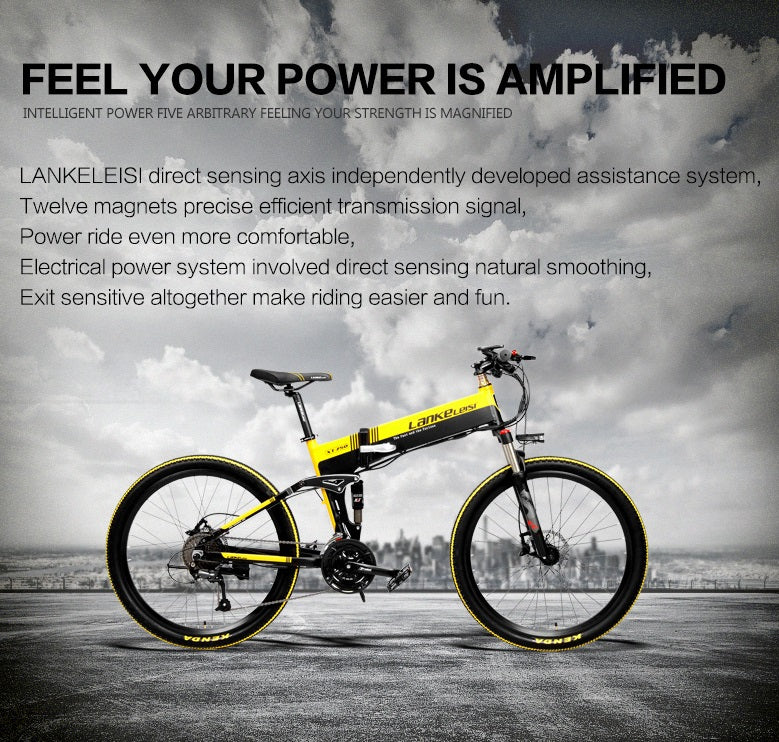 Bliss Brands Electric Bicycle XT750-black yellow - Bliss Brands