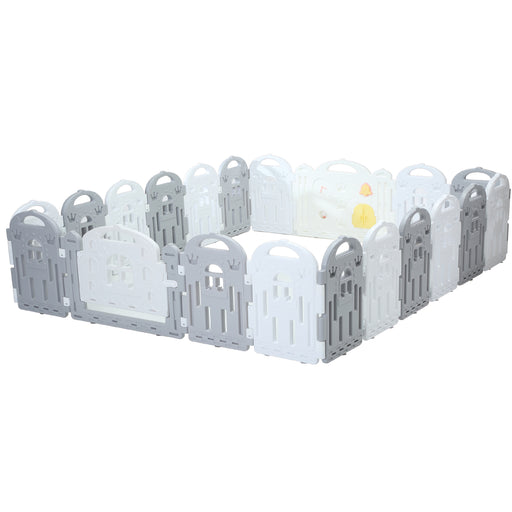 (Castle) Baby Playpen Panel: + Door & Toy Gates | Portable Indoor/Outdoor Playpen with Child Safety Fences - Bliss Brands