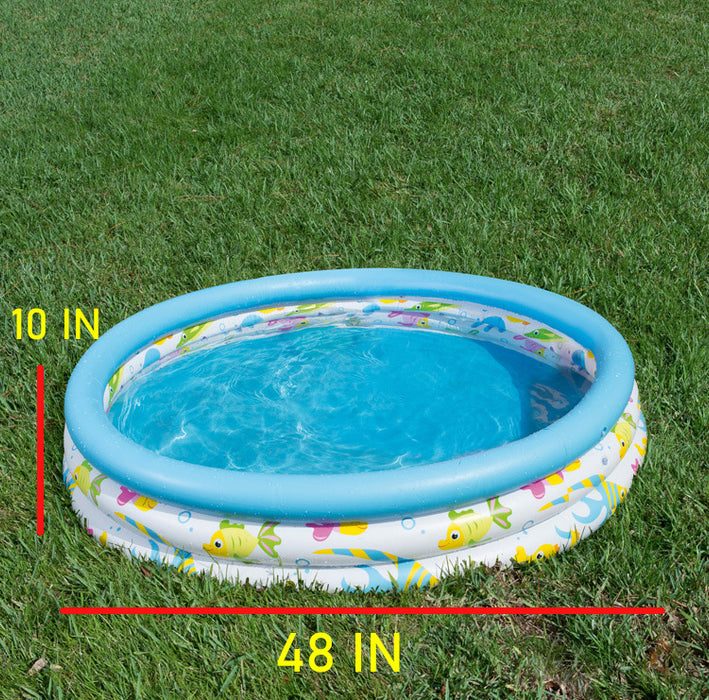 "Blue Inflatable Pool, 48 x 10"" - Bliss Brands"