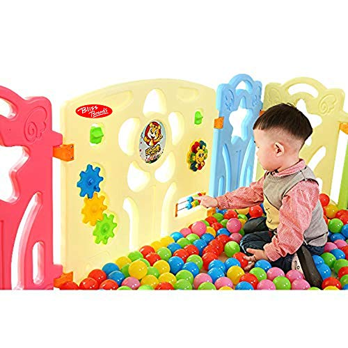 (Sun) Baby Playpen Panel: + Door & Toy Gates Portable Indoor/Outdoor Playpen with Child Safety Fences - Bliss Brands