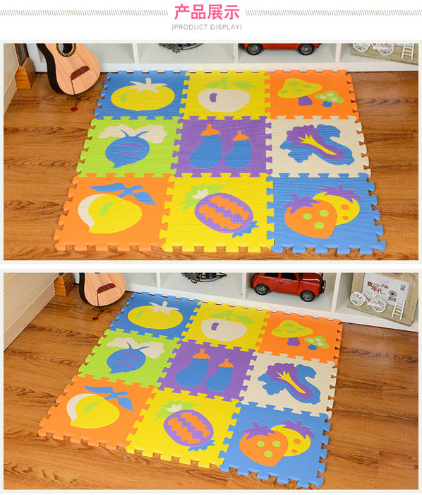 Decorative Puzzle Play Mats, Soft Foam Interlocking Floor Mats for Baby Playpens, Childrens Play Rooms, Daycare - Bliss Brands