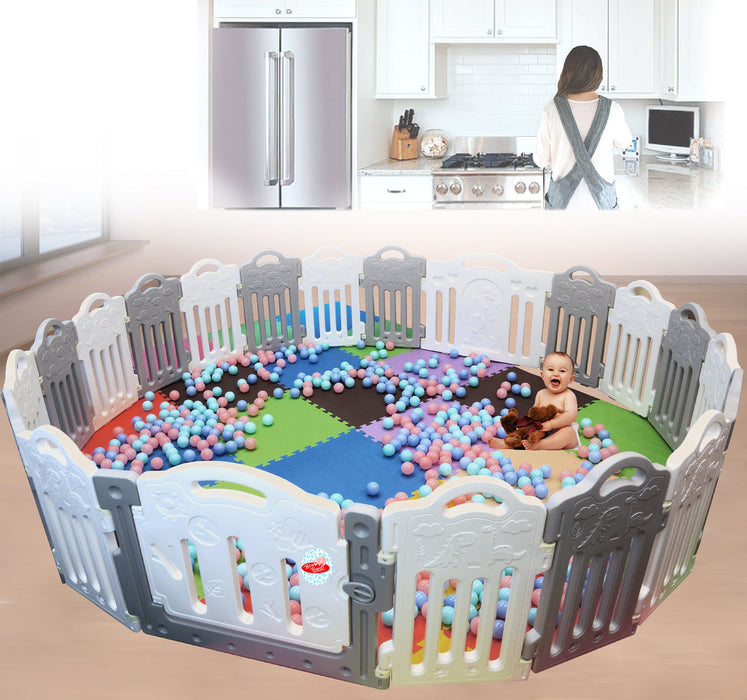 Additional (Dino) Panel: Baby Playpen - Large Plastic Playpen Panel's - Bliss Brands