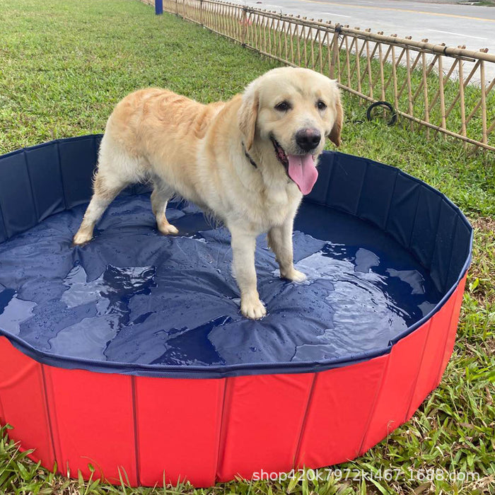 "63"" Large Foldable Pet Bath Pool Collapsible  Bathing Tub Kiddie Pool for Dogs Cats - Bliss Brands"