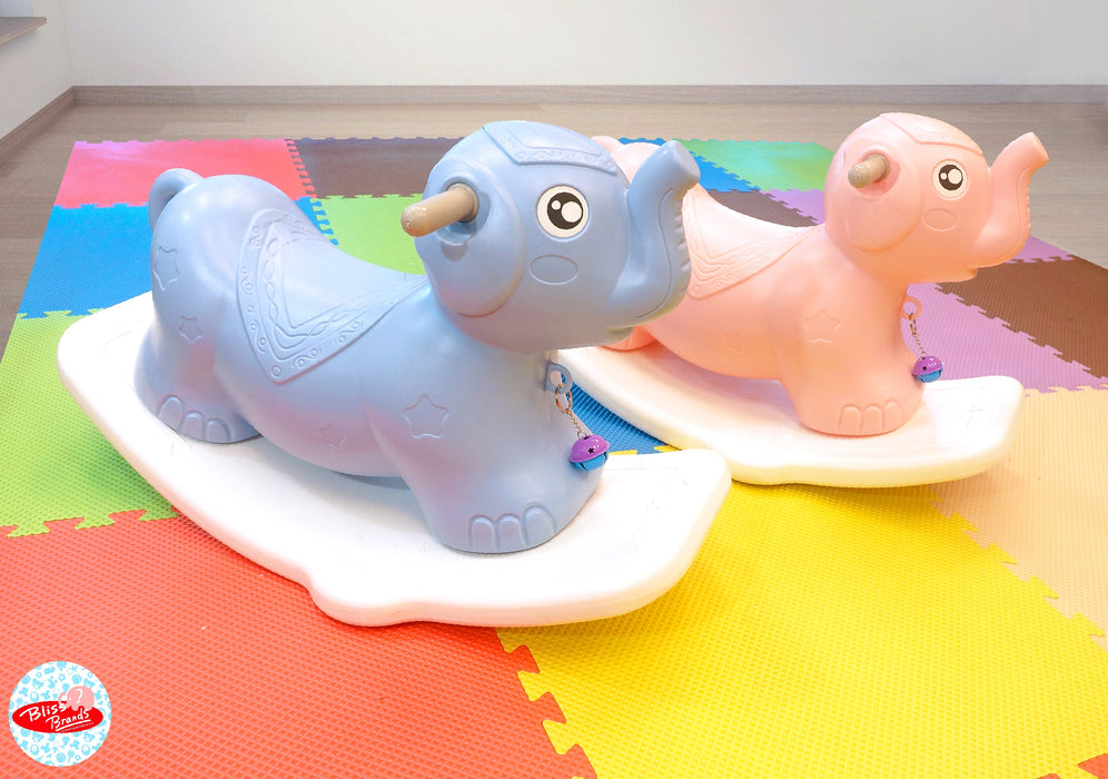 Baby Rocking (Elephant) - Rocking Toy Ride for Kids & Toddlers - Bliss Brands