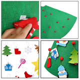 3D DIY Toddler Artificial Toy Christmas Tree with Hanging Ornaments