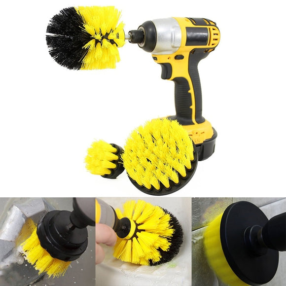 3 PCS Cordless Power Scrub Drill Attachment Cleaning Brush Kit