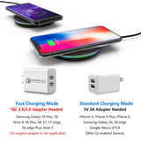 Qi Wireless Fast Charger For iPhone X/XR/XS Max/8 - Samsung Note 8/S8/S9/S7/S6