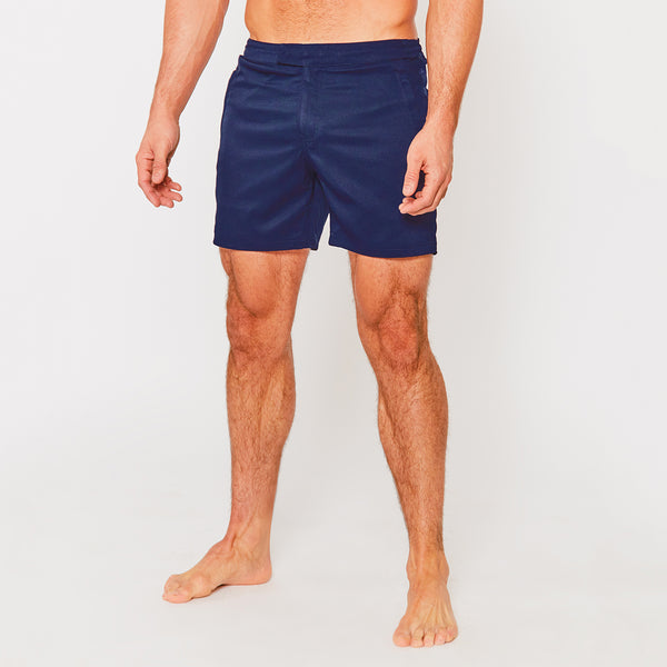 Tailored Swim Short in Navy
