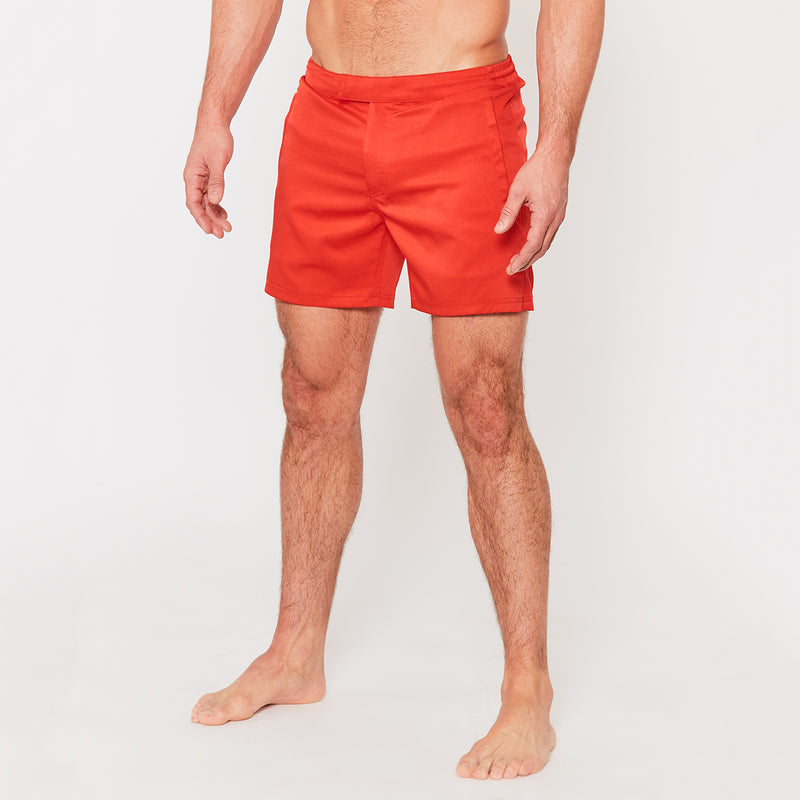Tailored Swim Shorts in Red