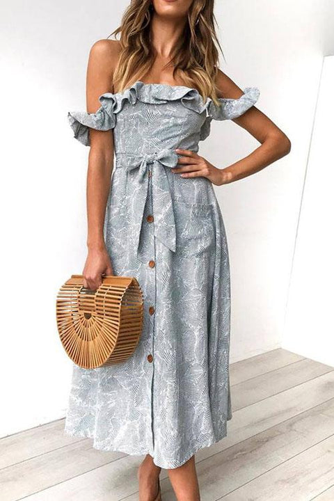 Chaseinstyles  Ruffled Button Down Princess Dress