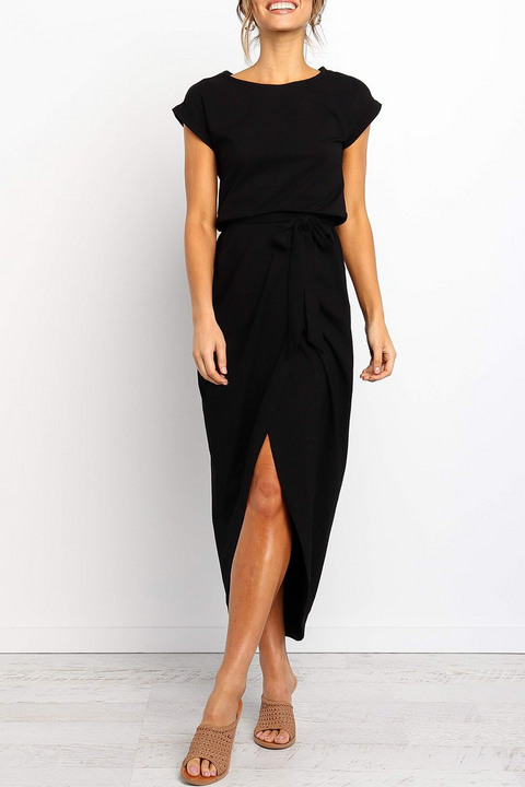 Chaseinstyles Eve Front Slit Irregular Dress