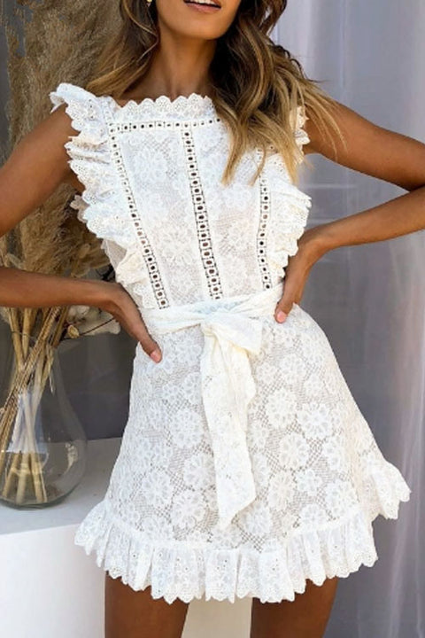 Chaseinstyles Sweet Embroidered Lace Dress