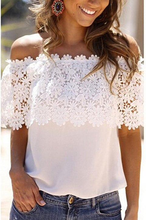 Chaseinstyles Snowflake Off Shoulder Top