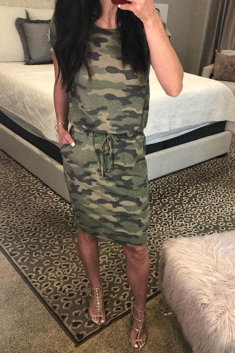 Chaseinstyles Classic Camo T-shirt Dress