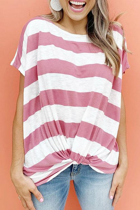 Chaseinstyles Wide Striped Tangle Up T-shirt