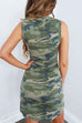 Chaseinstyles Tied Knot Waist Camo Dress
