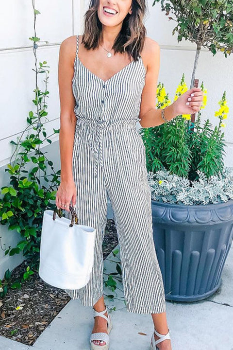 Chaseinstyles Fashion Icon Striped Jumpsuit