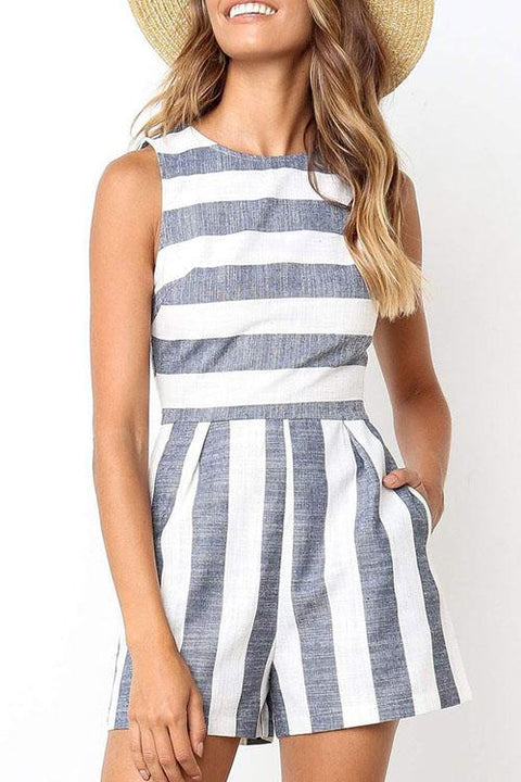 Chaseinstyles Flos Wide Striped Romper