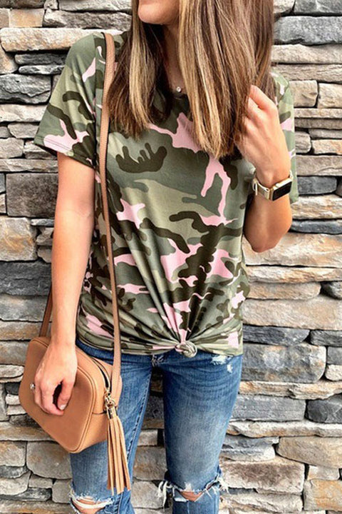 Chaseinstyles Colorful Camo Knot T-shirt
