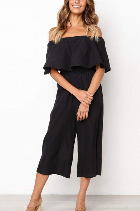 Chaseinstyles Big Flouncing Wide Leg Jumpsuit