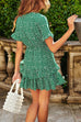 Chaseinstyles Green Polka Butterfly Dress