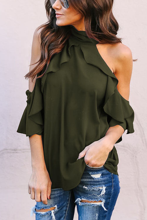 Chaseinstyles Lotus Ruffled Off The Shoulder Blouse Top