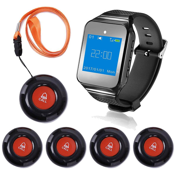 Wrist Pager System | Wrist Pager Call Button | Wireless Wrist Pager