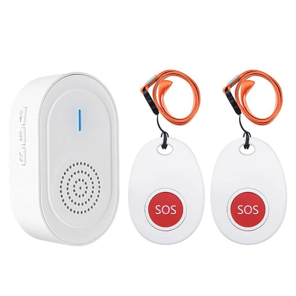 CallToU Caregiver Pager | Call Button Nurse Alert System | 1 Magnetic Receiver + 2 SOS Transmitter - CallToU