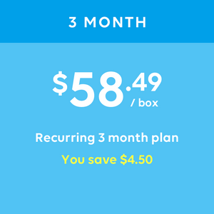 3 Month Prepay. Recurring 3 Month Plan.