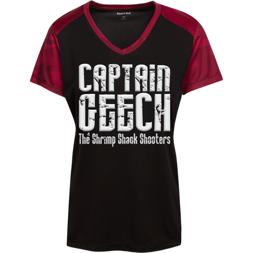 Geech Sport-Tek Ladies' CamoHex Colorblock T-Shirt
