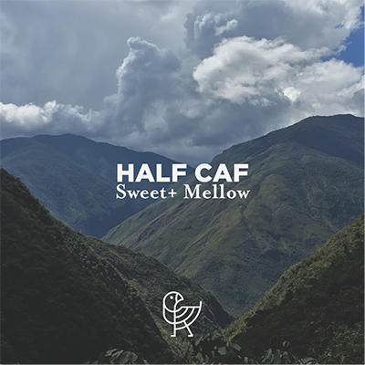 Half Caf 1 x 8 oz decaf, 1 x 8 oz regular