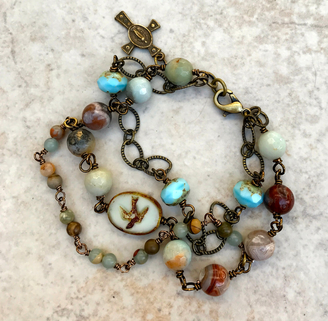 Holy Spirit Gemstone Bracelet