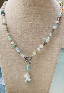 Spring Rain Dangle Necklace