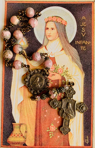 Shower of Roses St. Therese Gemstone Decade Rosary