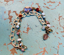 Load image into Gallery viewer, Miraculous Medal Shield Gemstone Bracelet