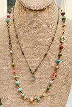 Load image into Gallery viewer, Blossom Green Faceted Quartz Necklace