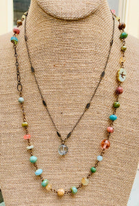 Blossom Green Faceted Quartz Necklace