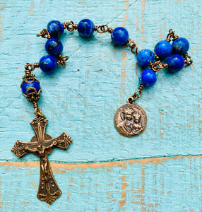 Our Lady of the Way Guidance Lapis Decade Rosary