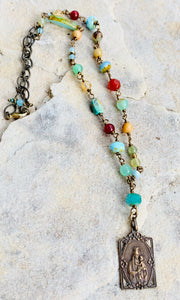 Prayers on the Beach Collection Necklace of Our Lady of the Scapular