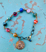 Load image into Gallery viewer, Jesus and Mary Gemstone Bracelet