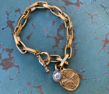 Load image into Gallery viewer, Gold Chain St. Michael Bracelet