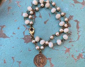 Guardian Angel and St. Alena Double Bracelet
