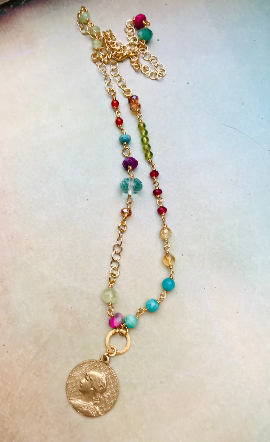 Joan of Arc Gemstone Necklace