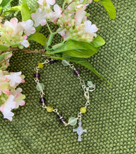 Load image into Gallery viewer, Flourish Collection Sterling Cross Bracelet