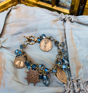 Our Lady's Blue Charm Bracelet