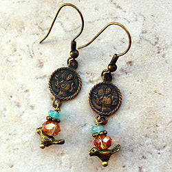 St. Francis Bird Earrings