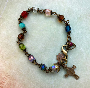 The Original Chapel Window Rosary Bracelet