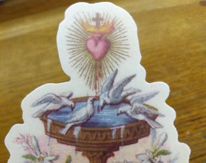Sticker–Source of Grace –based on a Vintage French Holy Card